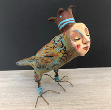 Load image into Gallery viewer, SOLD - Art Doll Quirky Bird - Jennifer Sher Art