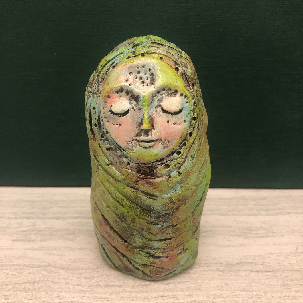 Paperclay Art Doll - Connect to Earth - Jennifer Sher Art
