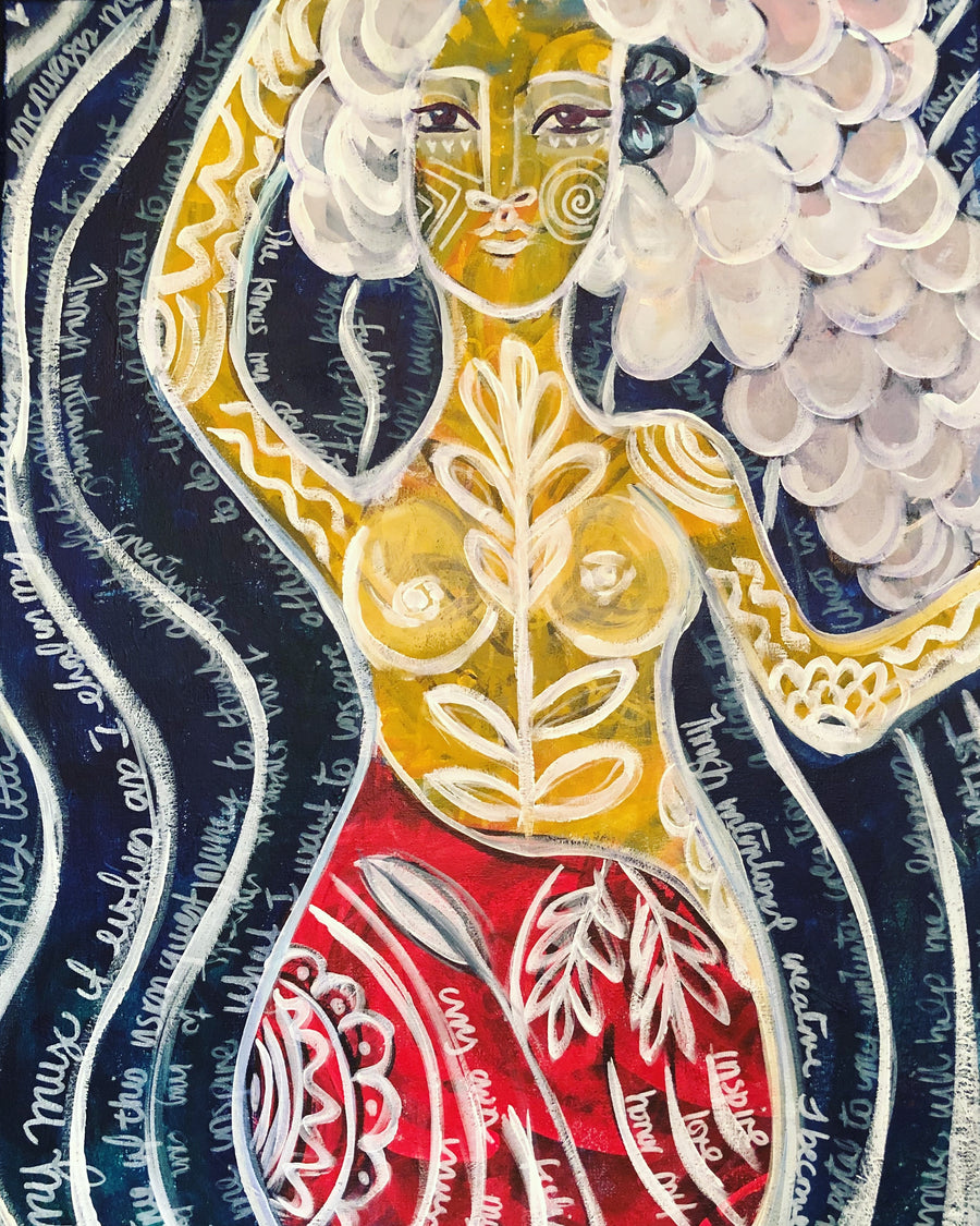 SOLD - Swirling Goddess - Jennifer Sher Art
