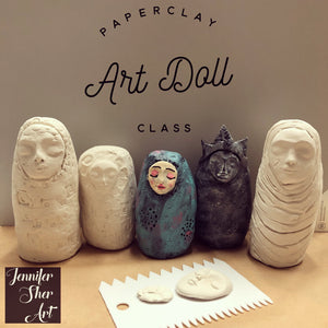 Paperclay Art Class - Creating an Art Doll - Jennifer Sher Art