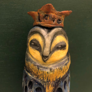 SOLD - Love Owl - Jennifer Sher Art