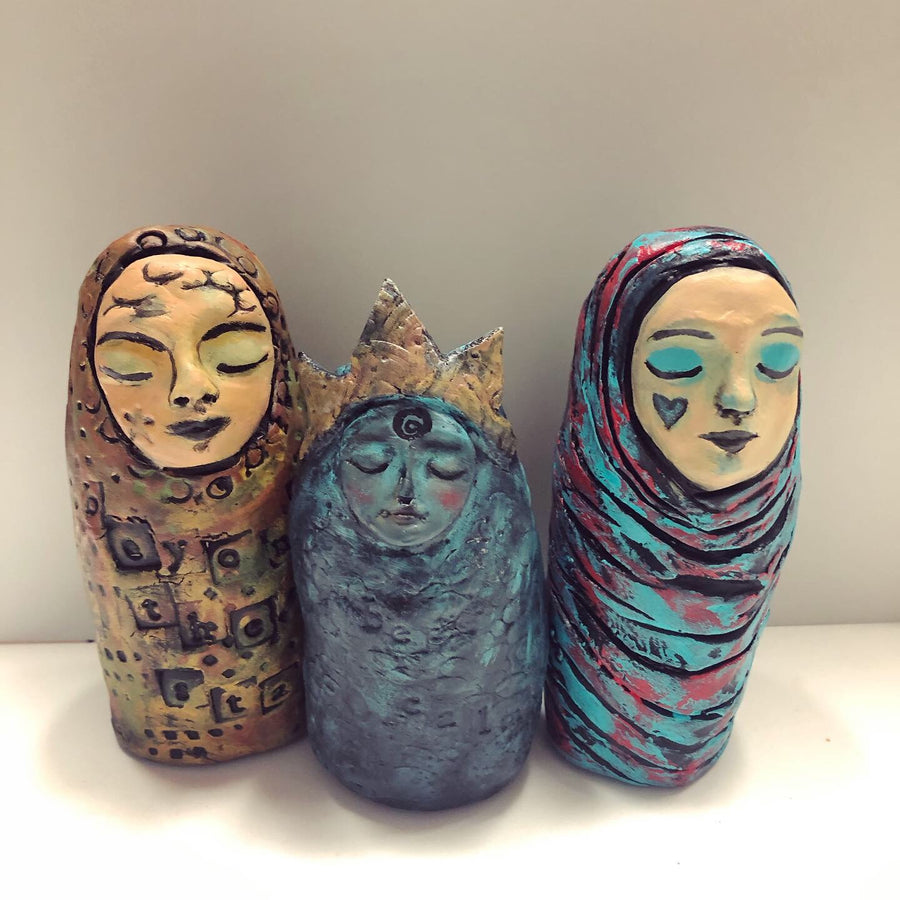 Paperclay Art Class - Create an Art Doll - Jennifer Sher Art
