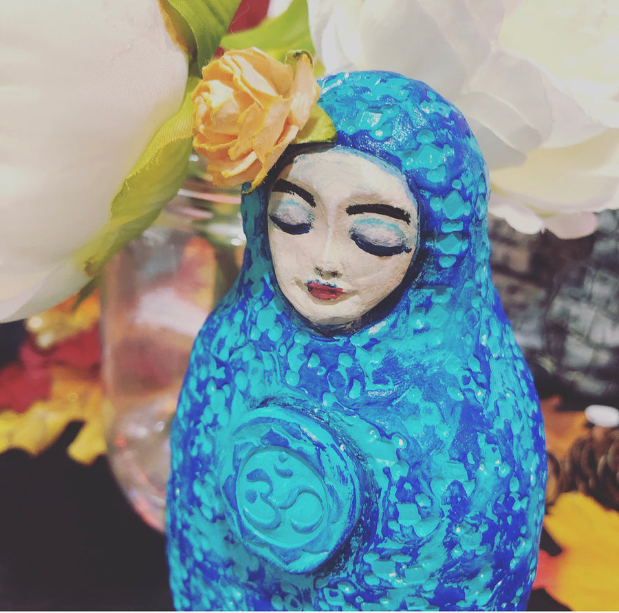 Om Meditation Art Doll - Jennifer Sher Art