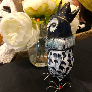 Blue Owl - Jennifer Sher Art