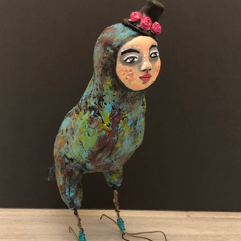 Hollie - The Quirky Bird - Jennifer Sher Art