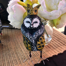 Load image into Gallery viewer, Regal Owl - Yellow Crown - Jennifer Sher Art