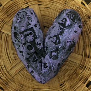 SOLD - Hand Sculpted Hearts - Jennifer Sher Art