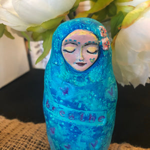 Meditation Art Doll - Jennifer Sher Art