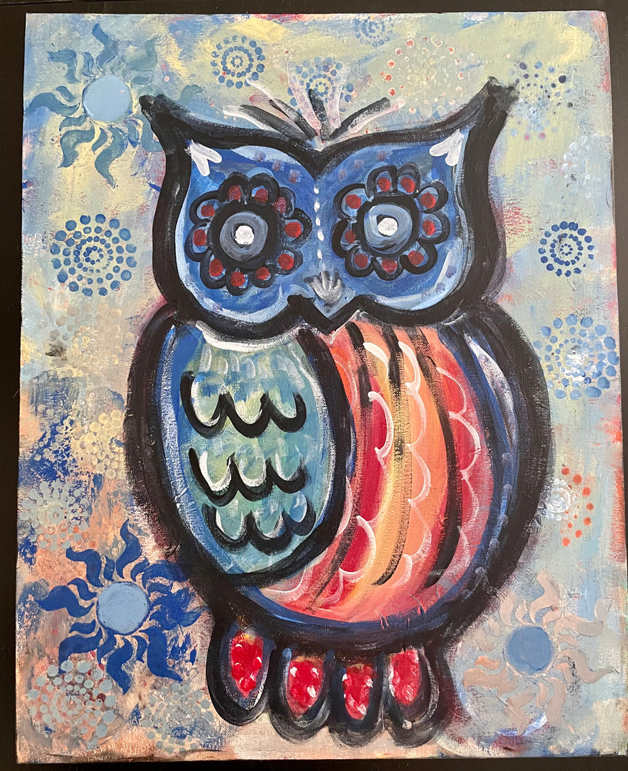 Joyful Colorful Owl