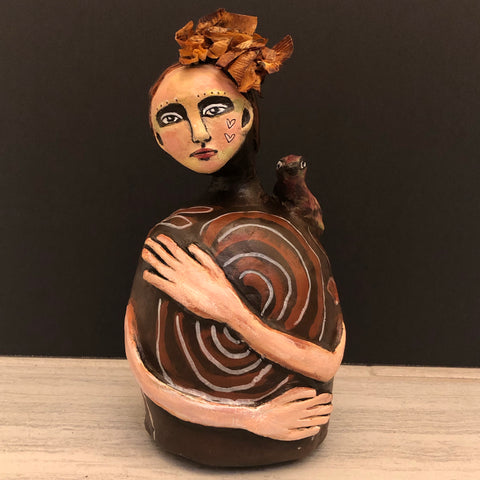 SOLD -Spiral Guardian - Jennifer Sher Art
