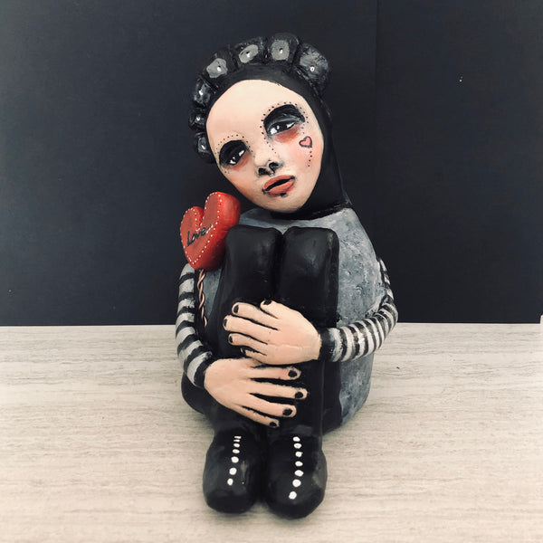 Handmade Art Doll - Soulful Lovebearer