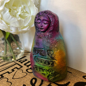 SOLD Meditation Art Doll - Love Always Wins - Jennifer Sher Art
