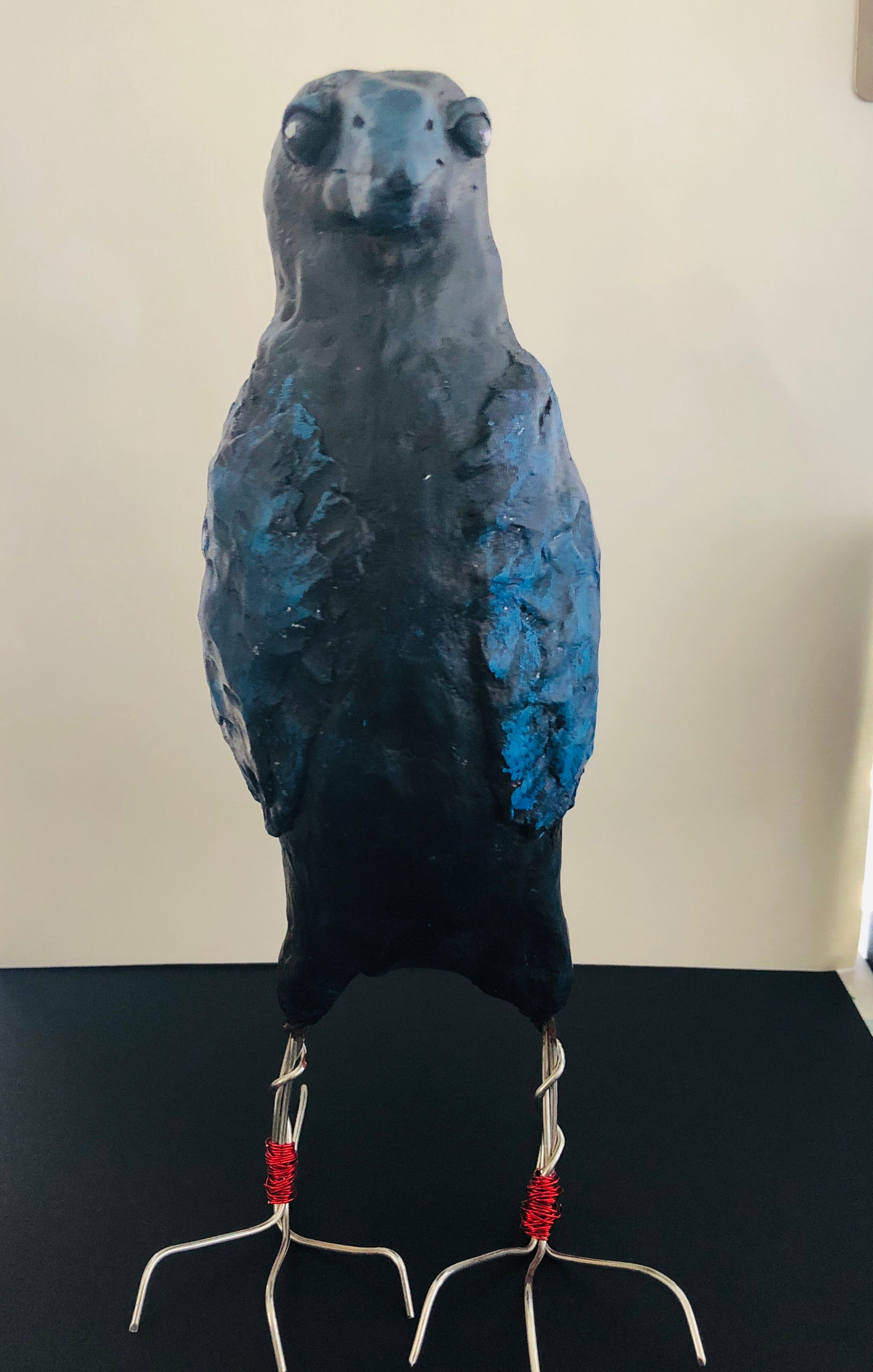 SOLD - Art Doll Blue Spirit Raven - Jennifer Sher Art
