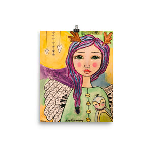 Angel Art Print - Jennifer Sher Art