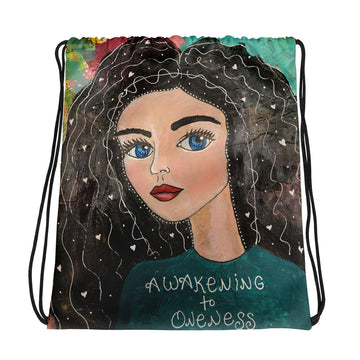 Awakening To Oneness Drawstring bag - Jennifer Sher Art
