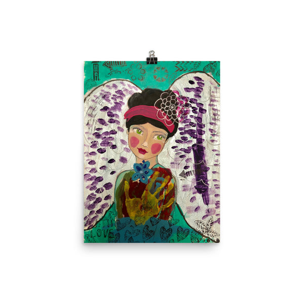Playful Art Angel Print - Jennifer Sher Art