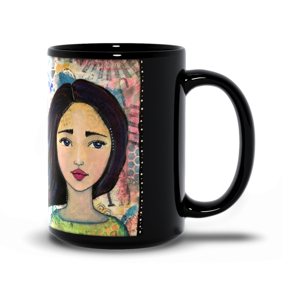 Mixed Media Girl Mug