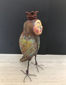 SOLD - Quirky Bird Art Doll