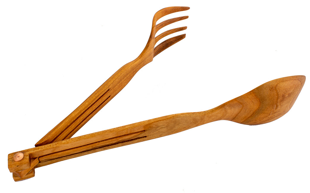 Salad Tongs | Peach Wood