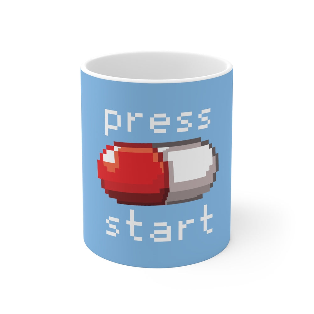 Gamer Coffee Mug | Press Start | Gamer Coffee Mug | sumoearth 🌎