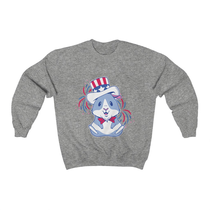 4th of July Unisex Sweatshirts | Patriotic Guinea Pig Unisex Sweatshirt | sumoearth 🌎