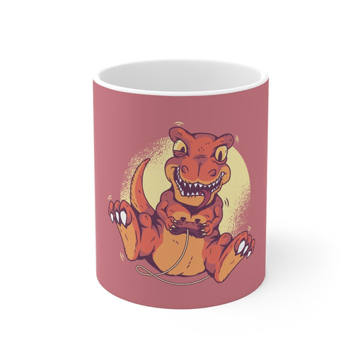 Gamer Coffee Mug | Gamer Dinosaur | Gamer Coffee Mug | sumoearth 🌎