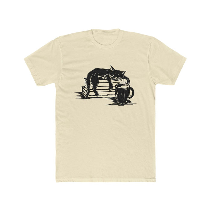 Cat and Coffee Men's T Shirt