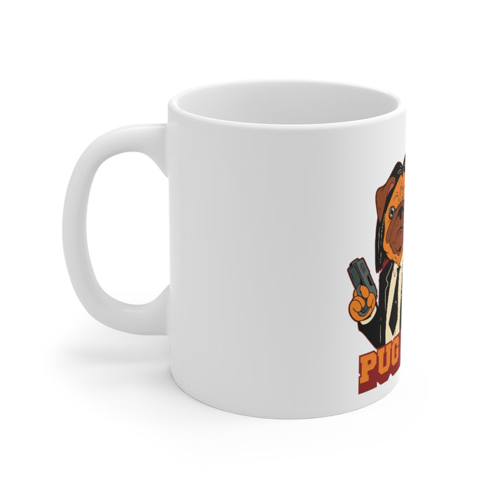 Pug Coffee Mug | Pug Coffee Mug - Pug Fiction | sumoearth 🌎