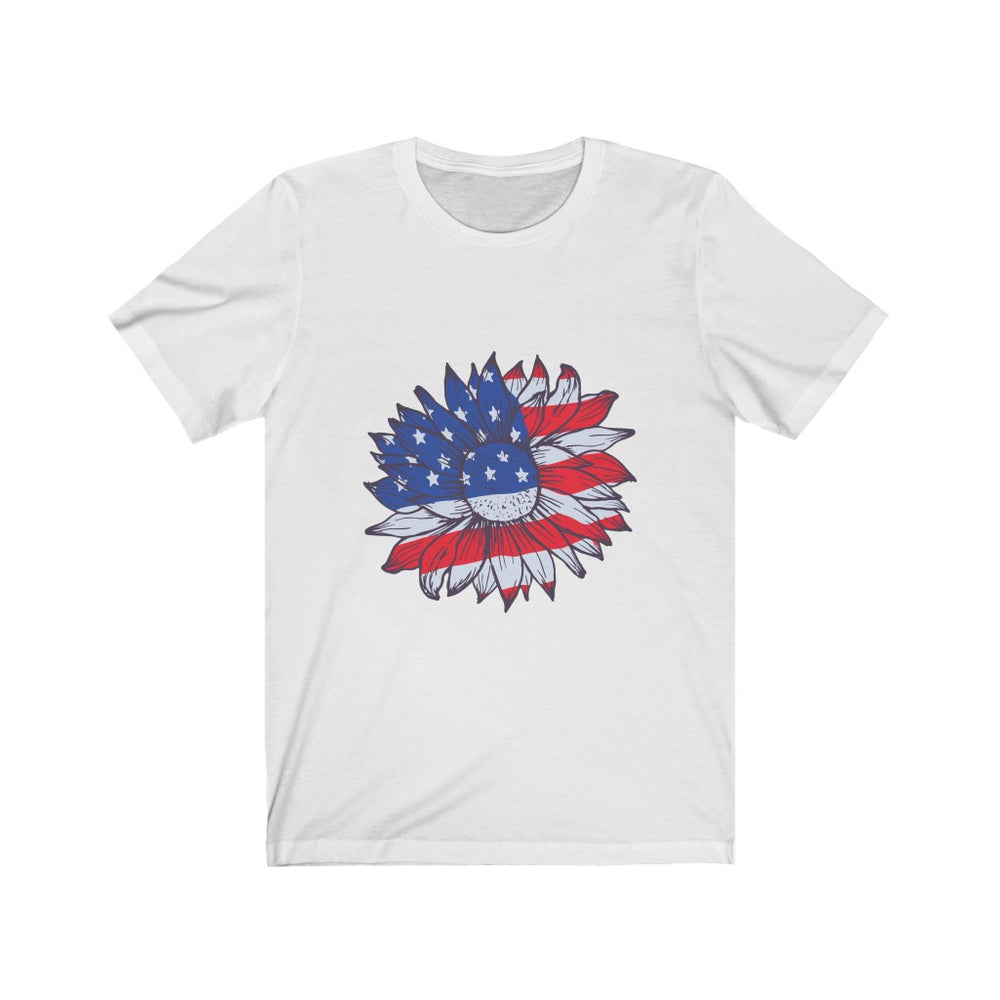 4th of July Women's T-Shirt | Women's Patriotic Sunflower T-Shirt | sumoearth 🌎