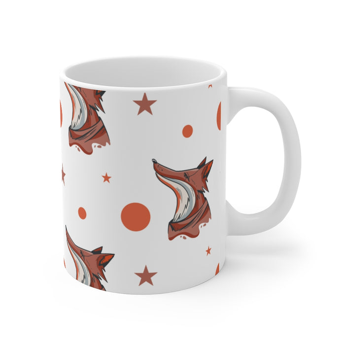 Fox Coffee Mugs | Fox Coffee Mug - Bright Night | sumoearth 🌎