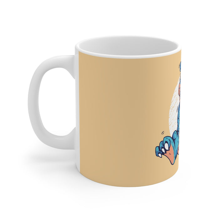 Dinosaur Coffee Mugs | Dinosaur with Ice Cream Coffee Mug | sumoearth 🌎
