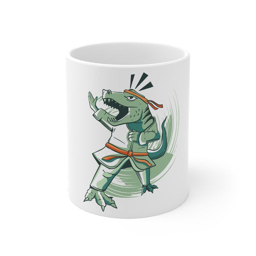 Dinosaur Coffee Mugs | Karate T-Rex Coffee Mug | Dinosaur Coffee Mug | sumoearth 🌎