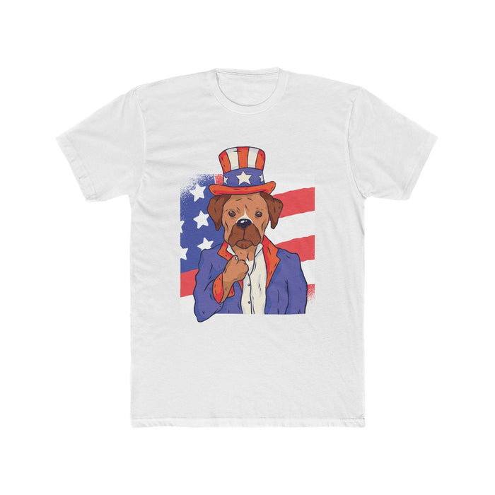 4th of July T-Shirts | Men's President Patriotic Dog T-Shirt | sumoearth 🌎