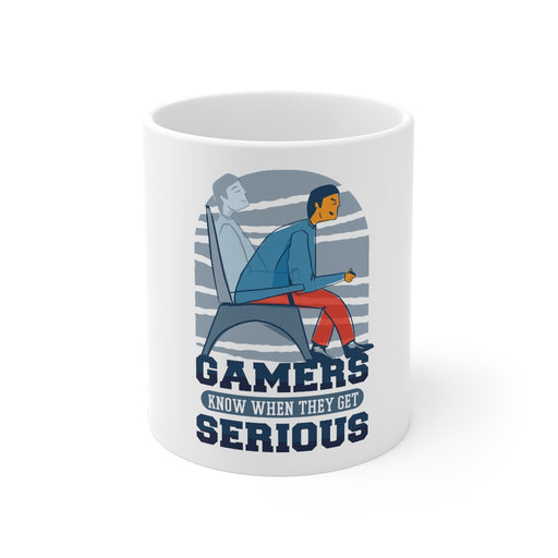 Gamer Coffee Mug | Gamers Know When They Get Serious | Gamer Coffee Mug | sumoearth 🌎
