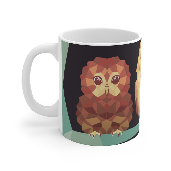 Owl Coffee Mug | Owl Coffee Mug - Geometric | sumoearth 🌎