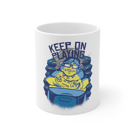 Gamer Coffee Mug | Keep On Playing | Gamer Coffee Mug | sumoearth 🌎