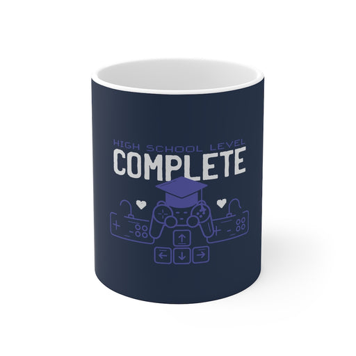 Gamer Coffee Mug | High School Level Complete | Gamer Coffee Mug | sumoearth 🌎