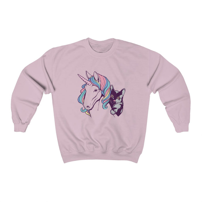 Unicorn and Cat Unisex Sweatshirt
