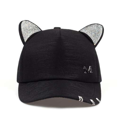 Cat Apparel | M's Cat Ears Baseball Cap | sumoearth 🌎
