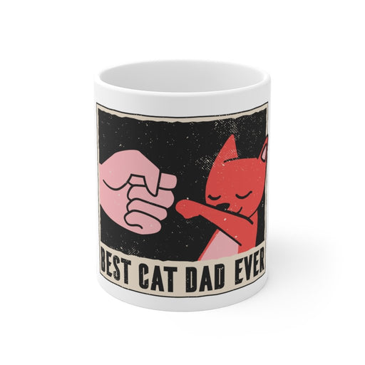 Cat Coffee Mug | Best Cat Dad Ever | Cat Coffee Mug | sumoearth 🌎