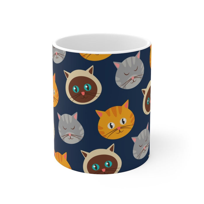 Cat Coffee Mug | Cartoon Cats Coffee Mug | sumoearth 🌎