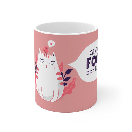 Cat Coffee Mug | Give Me Food Not Kisses | Cat Coffee Mug | sumoearth 🌎