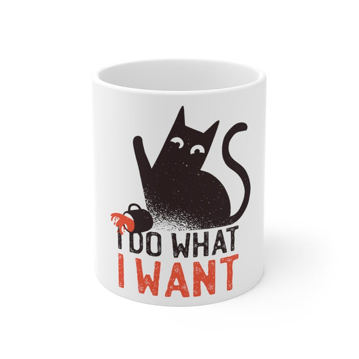 Cat Coffee Mug | I Do What I Want | Cat Coffee Mug | sumoearth 🌎