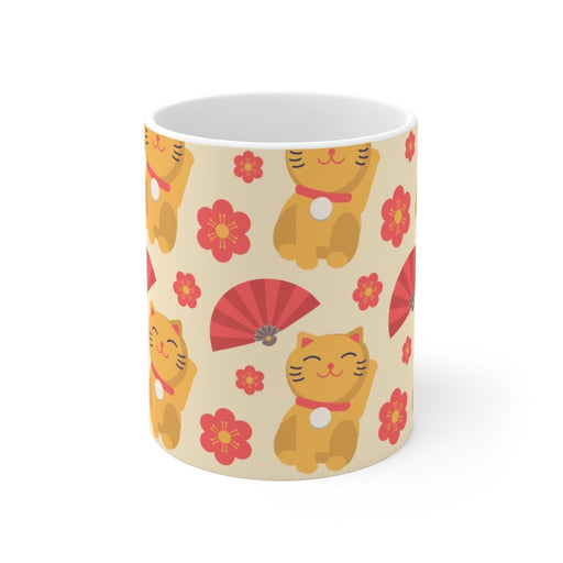 Cat Coffee Mug | Japanese Cat Coffee Mug | sumoearth 🌎