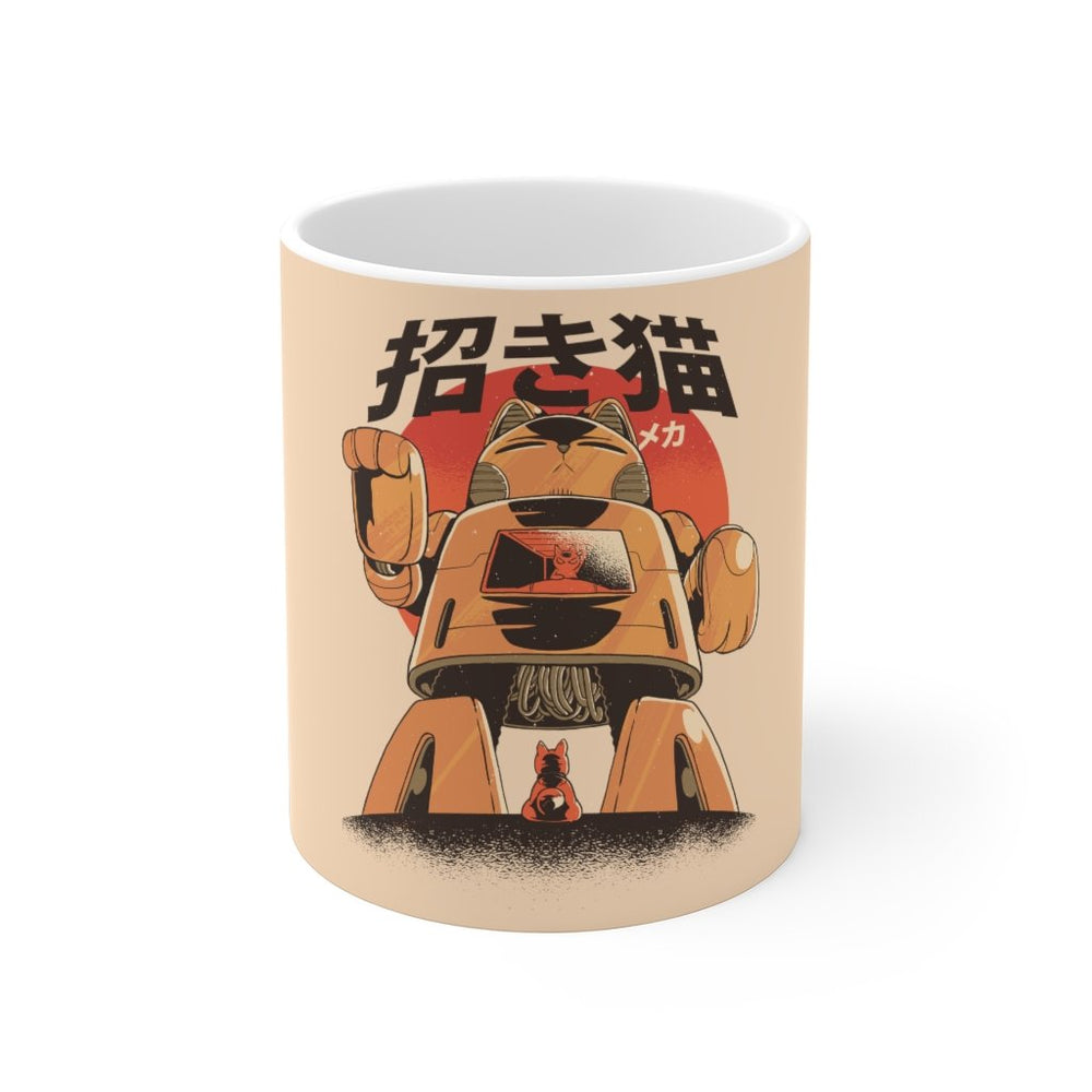 Cat Coffee Mug | Mecha Cat Coffee Mug | sumoearth 🌎