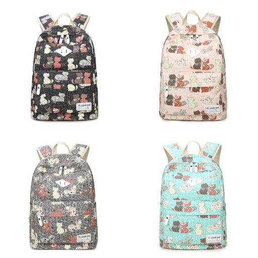 Cute Cat Backpack for School with Cat Prints | sumoearth