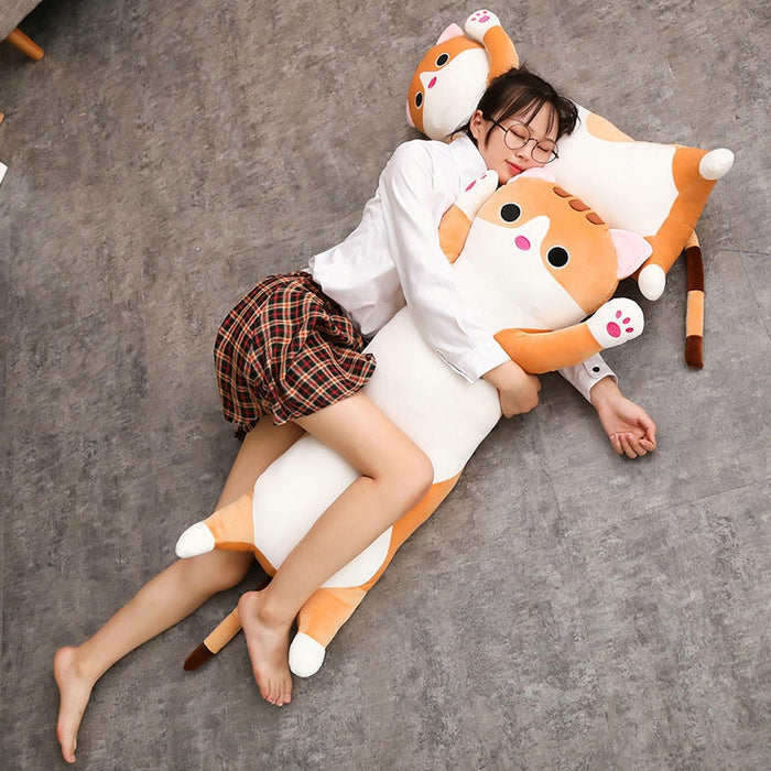 Cat Body Pillow | Neeko Kitty Cat Plush Body Pillow | sumoearth 🌎