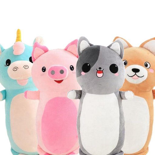 sumoearth PlushBodyPillows Cat, Pig, Pig Unicorn, Shiba Inu | Happi Stuffed Animal Plush Body Pillows | sumoearth 🌎