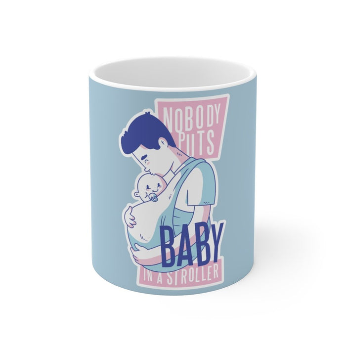 Dad Coffee Mug | Dad Coffee Mug - Nobody Puts Baby In A Stroller | sumoearth 🌎