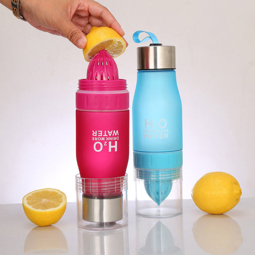 Sports Drinkware | H20 Lemon Infuser Water Bottle - 650mL | sumoearth 🌎
